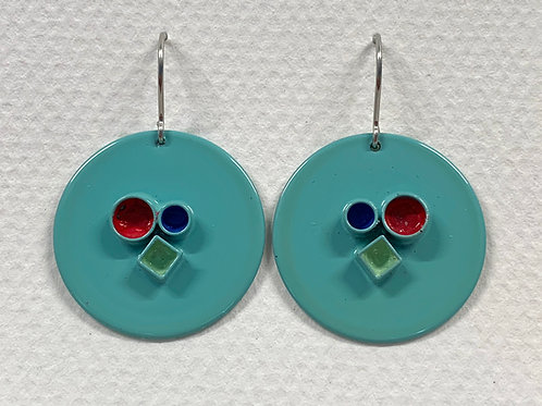 Tube Disc Earrings
