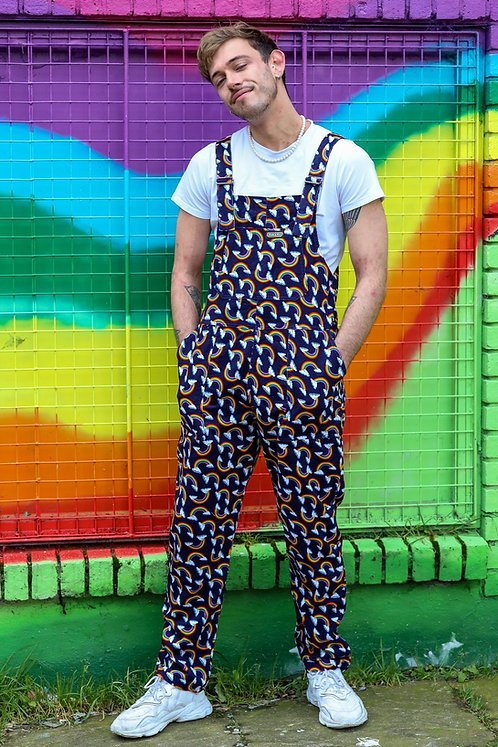 Run & Fly Over The Rainbow Corduroy Dungarees