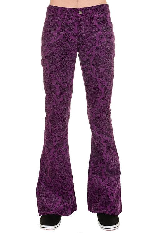 Run & Fly Purple Hendrix Corduroy Flares