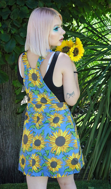 Run & Fly Stretch Twill Sunflower Pinafore