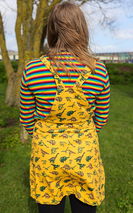 Run & Fly Corduroy Dino Pinafore