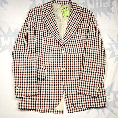 70's Chequered Suit Jacket
