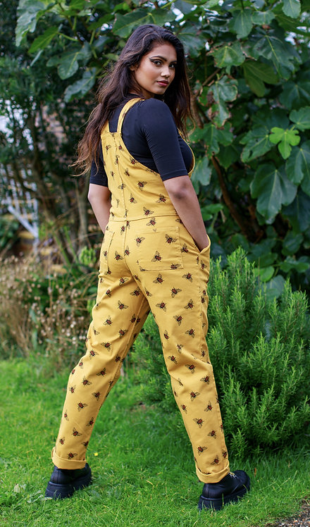 Run & Fly Bees Knees Stretch Twill Dungarees