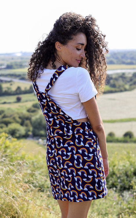 Run & Fly Corduroy Over The Rainbow Pinafore