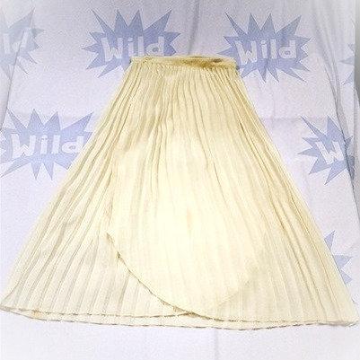 Vintage Cream Pleated Skirt