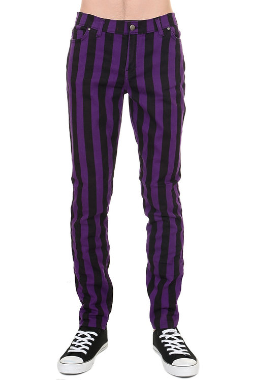Run & Fly Striped Skinny Jeans