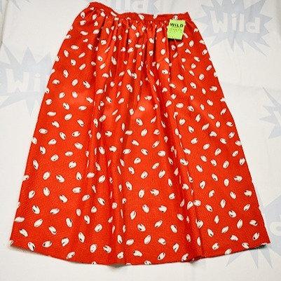 Red & White 'Cocoa Polka' Patterned Skirt