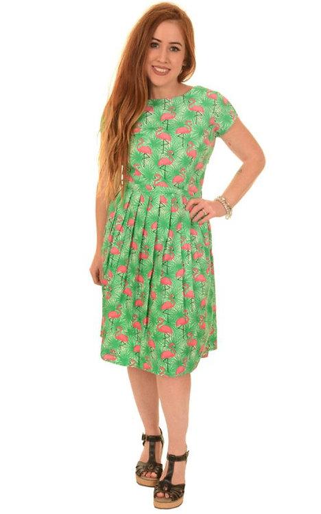 Run & Fly Flamingo Tea Dress