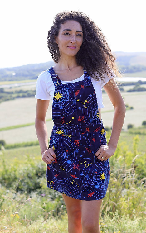 Run & Fly Corduroy Solar System Pinafore