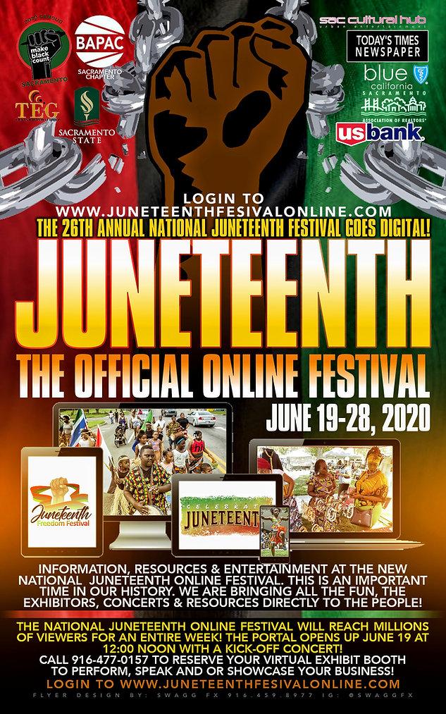 A JUNETEENTH FESTIVAL ONLINE main poster