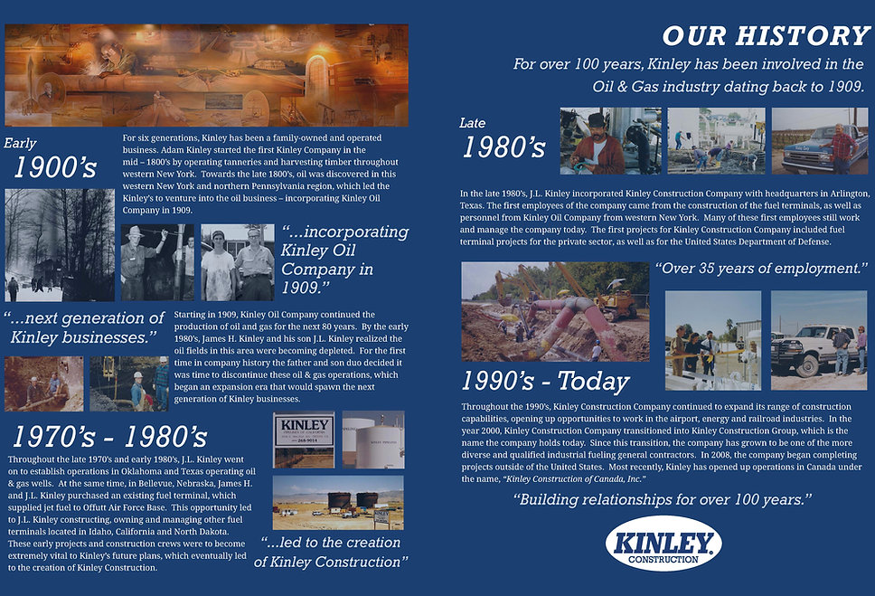 Kinley Construction History
