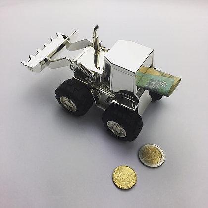Versilberter Spar-Traktor