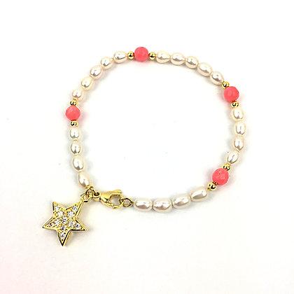 Echtperlen-Bracelet mit Korallen für die Mama