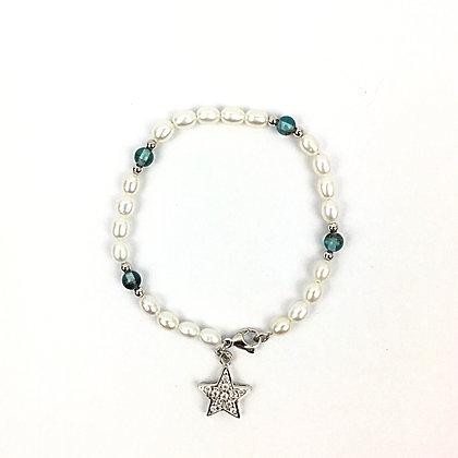 Echtperlen-Bracelet mit Apatit