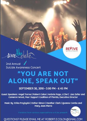 save the date suicide awareness concert.