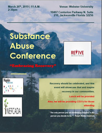 Substance Abuse Conference flyer revised