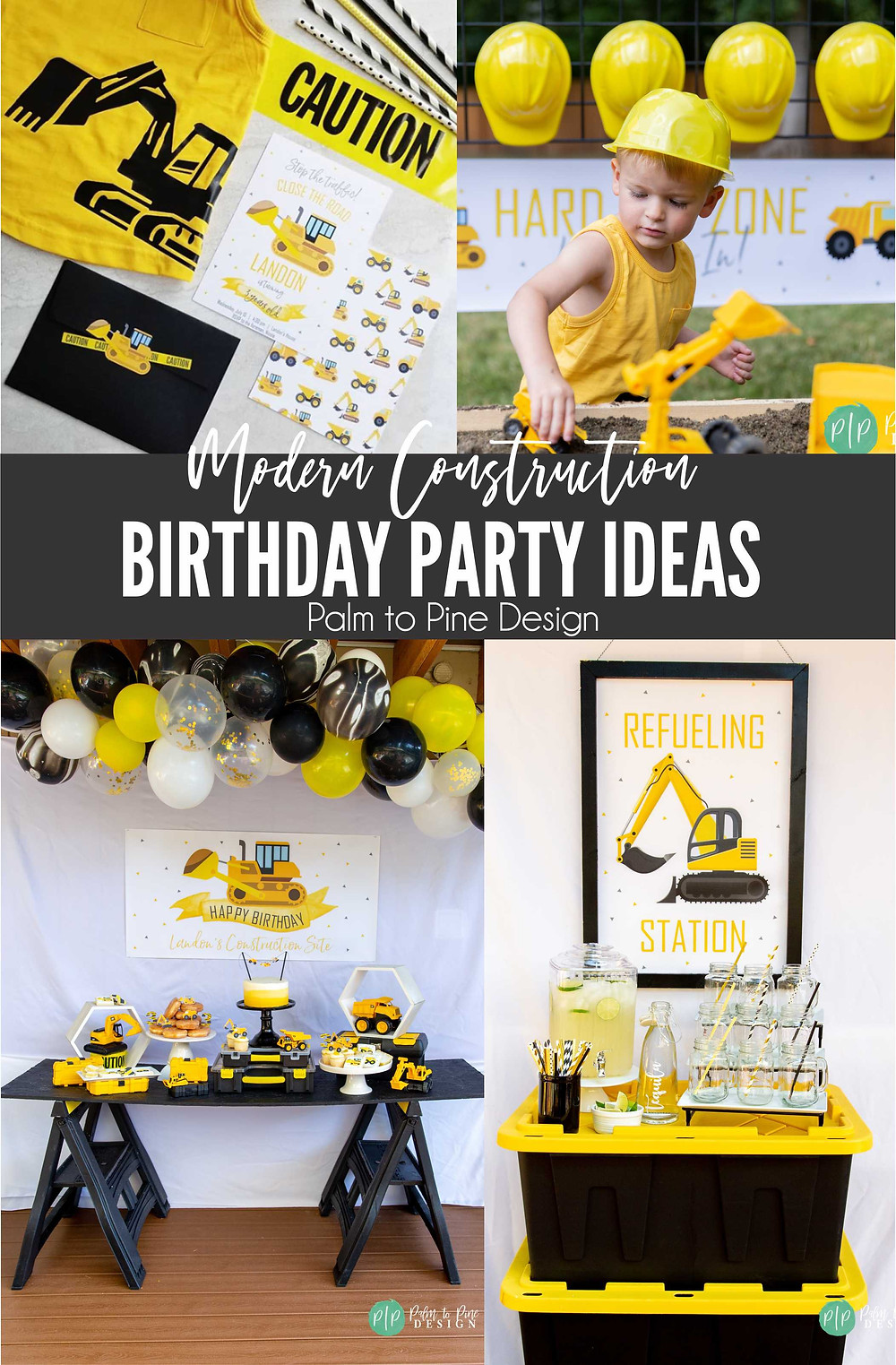 construction birthday ideas, construction birthday decorations