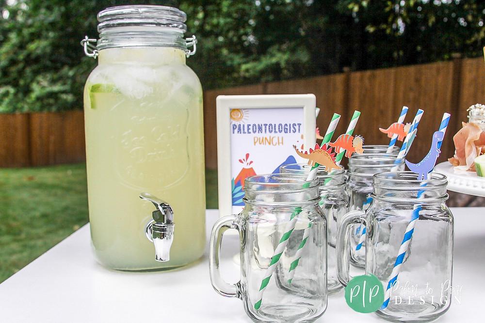 dinosaur party straws, dinosaur party drinks, dino drink ideas