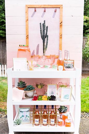 Rosé All Day | Palm Springs Bar Cart