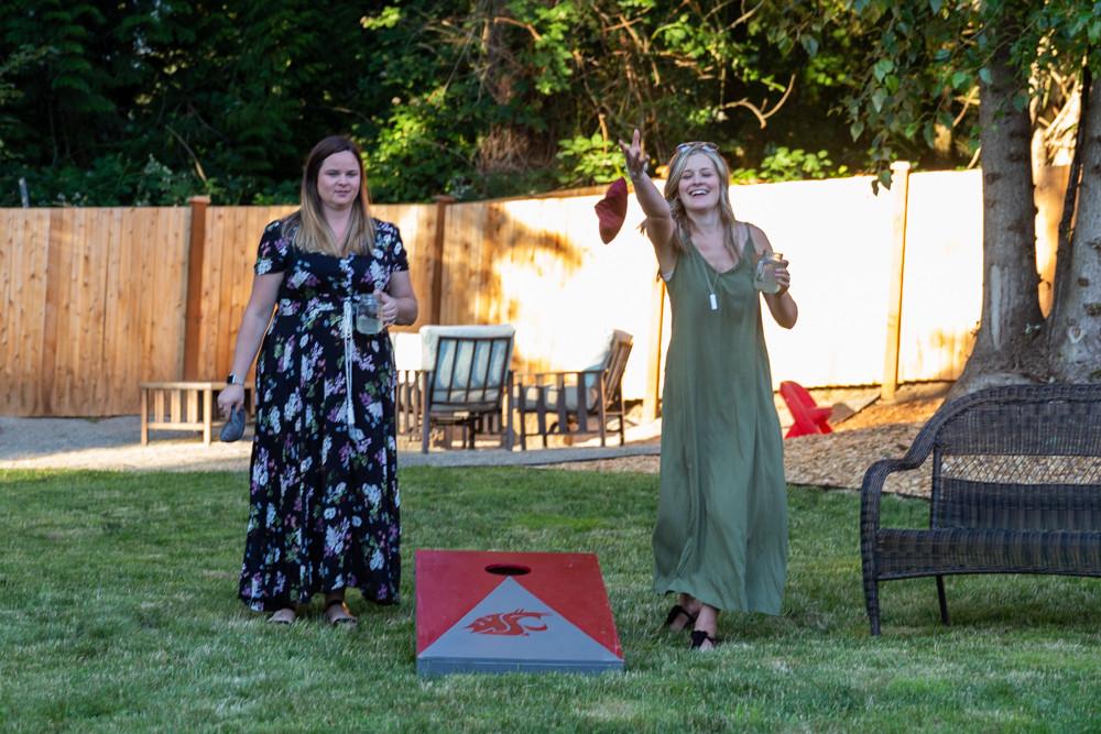cornhole party activity