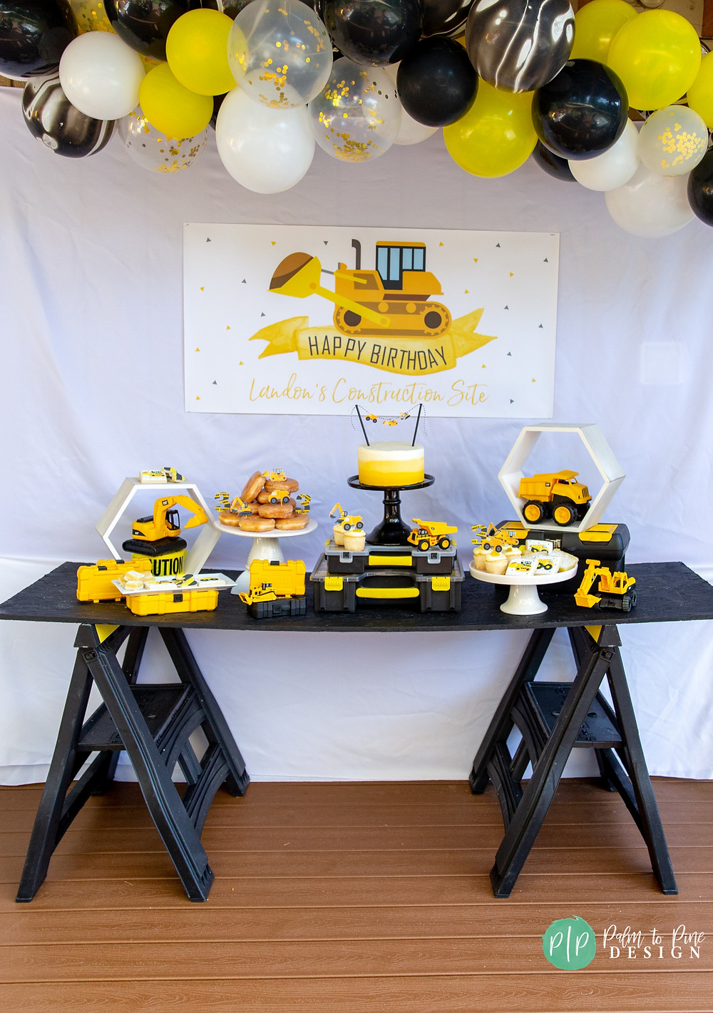 Construction Birthday Banner, Construction Party Decor