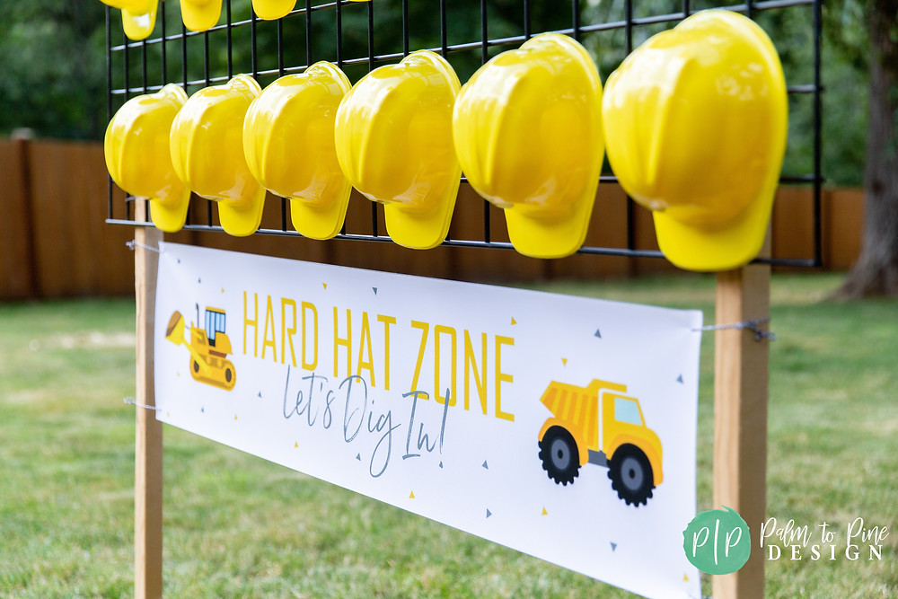 construction birthday party ideas, construction birthday banner