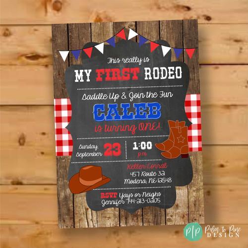 Cowboy Birthday Invite