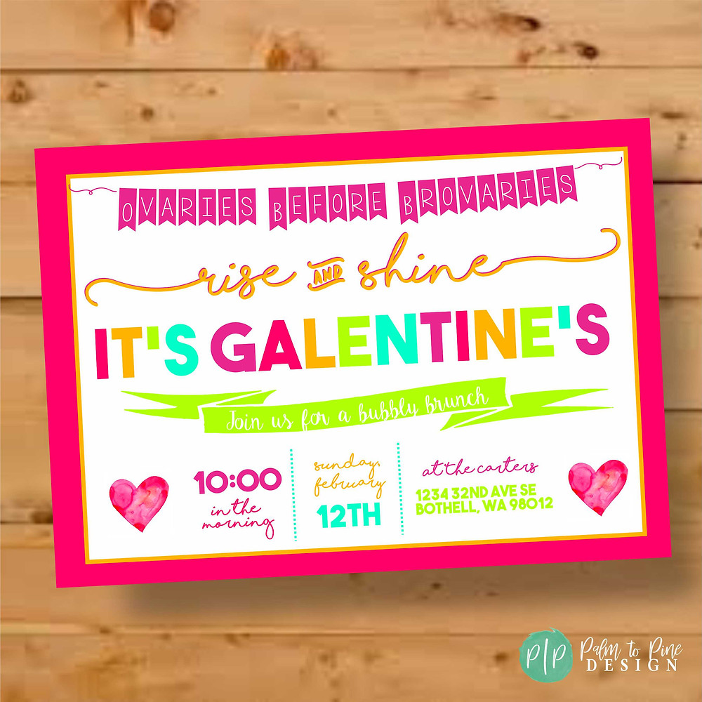 galentines party invitation, modern