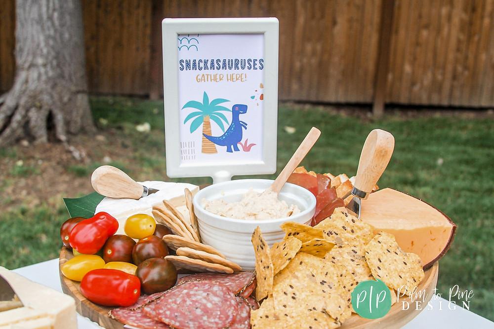 dinosaur birthday snacks, dinosaur party food