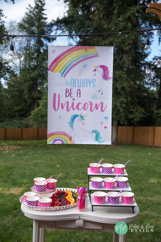 unicorn birthday party banner