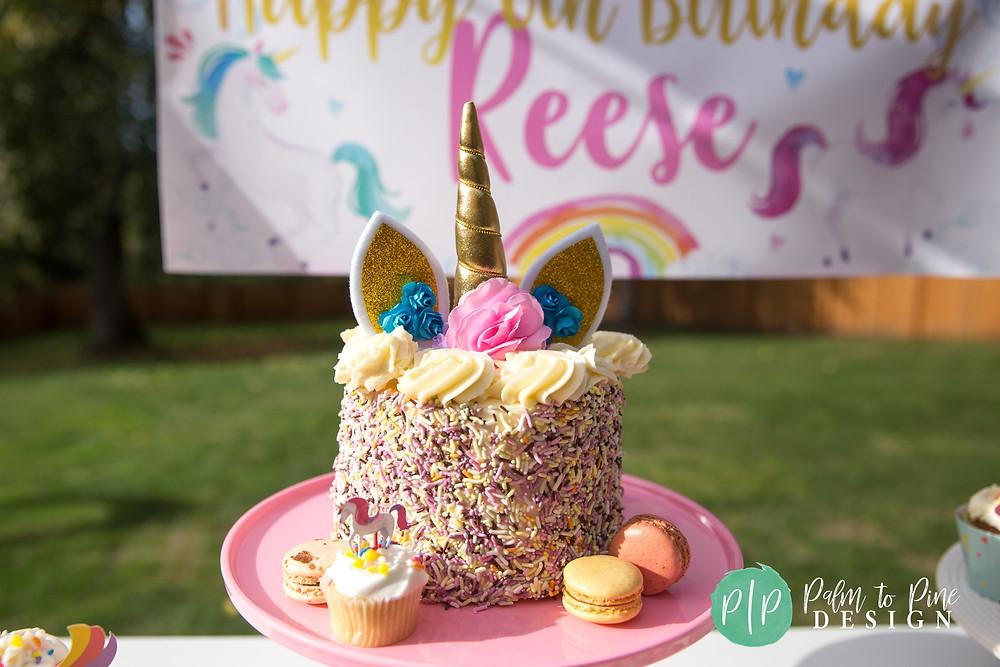 unicorn birthday cake, unicorn cake topper, unicorn sprinkle cake