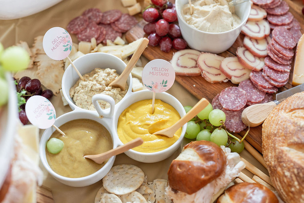 charcuterie board dips, how to make a charcuterie board