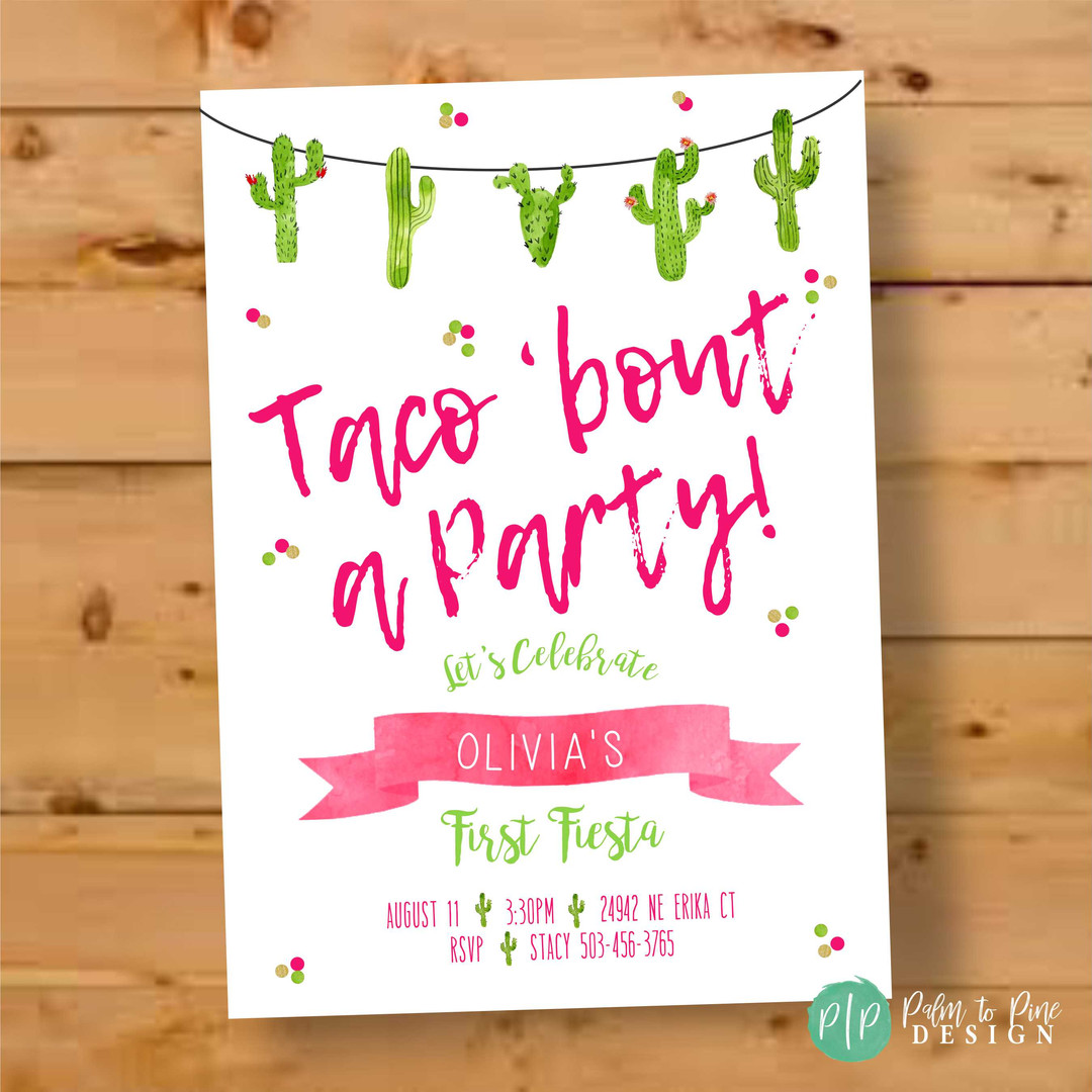 Taco Bout a Party Fiesta Invitation
