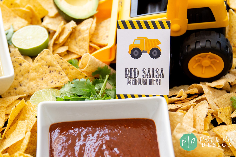 construction birthday food tents, construction party food ideas