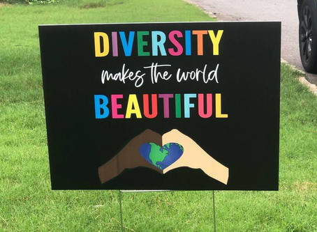 Social Justice Yard Signs and Giving Back