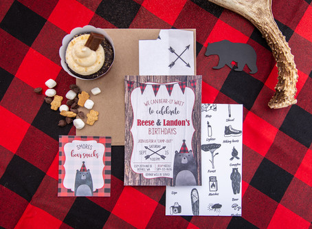 A Buffalo Plaid Inspired Camping Birthday Party | Kids Birthday