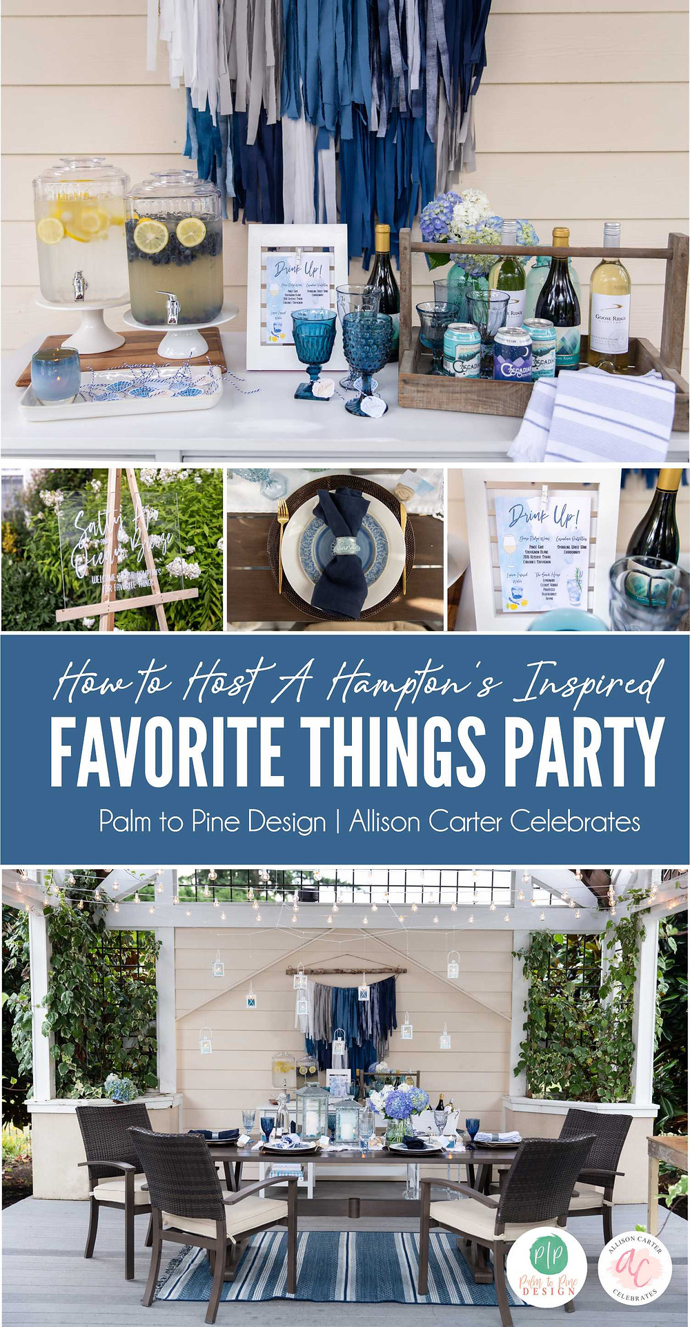 hampton's favorite things party, how to host a party, favorite things