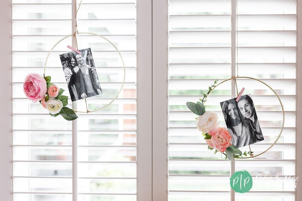 floral hoop bridal shower decor