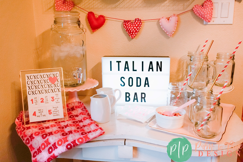 Italian Soda Bar Ideas, Kids Party drink ideas