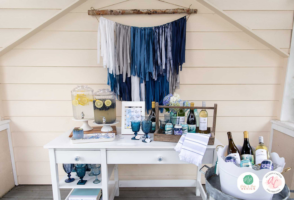 bar cart, outdoor entertaining, beach cocktails, bar cart styling