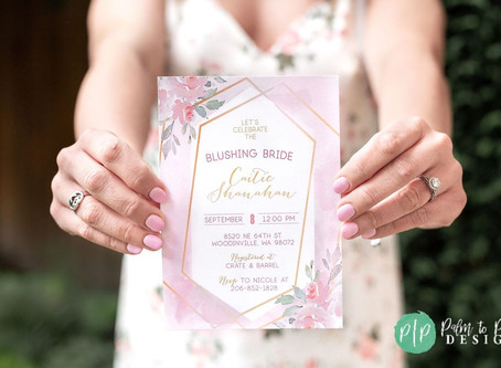 Blushing Bride Bridal Shower | Floral Bridal Shower | Champagne Wall | Rosé Bridal Shower | Bride