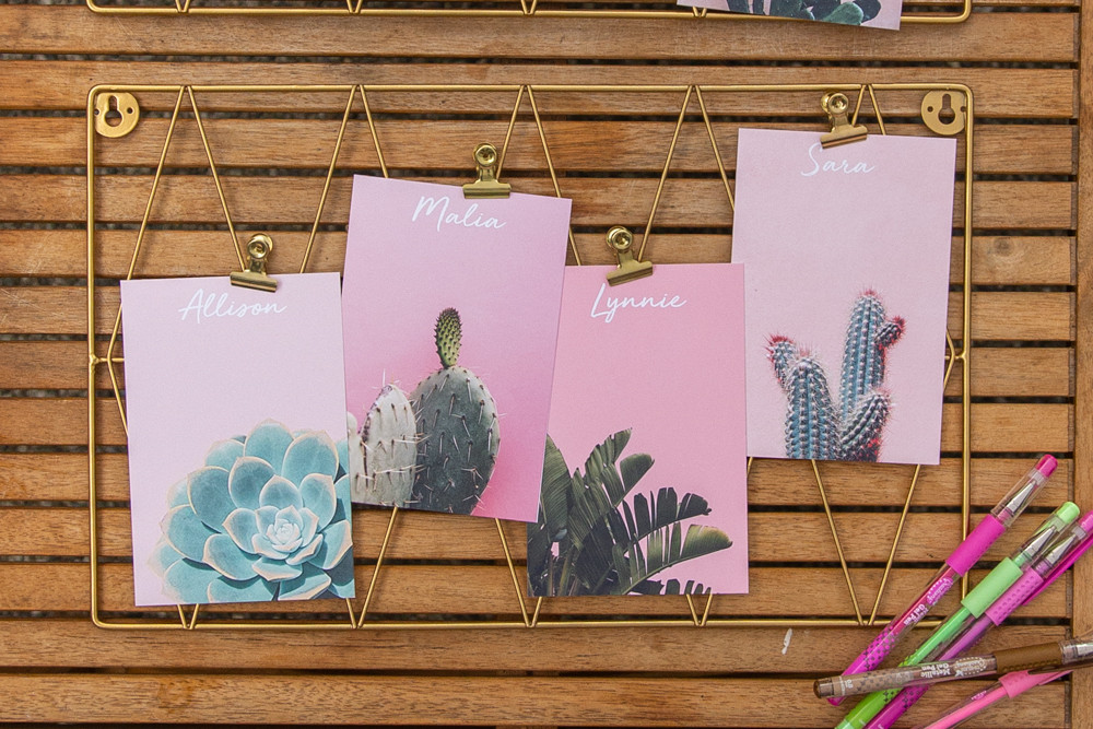 cactus art print, favorite things party printables, pink cactus