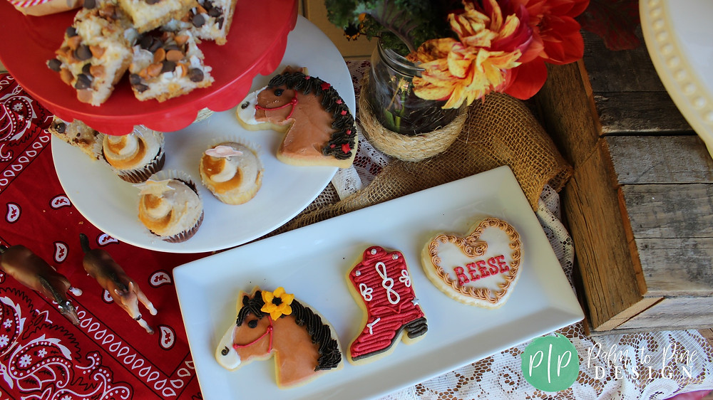 cowgirl sugar cookies, horse sugar cookies