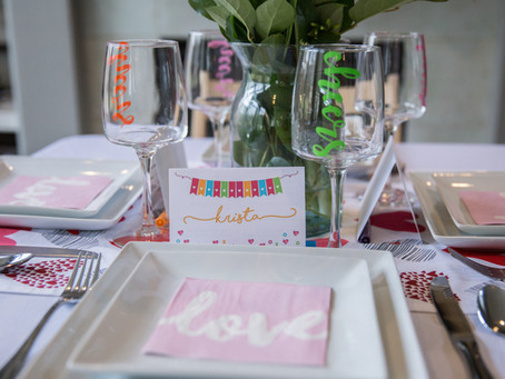 A Galentine's Brunch | Bold & Bright Valentine's Party