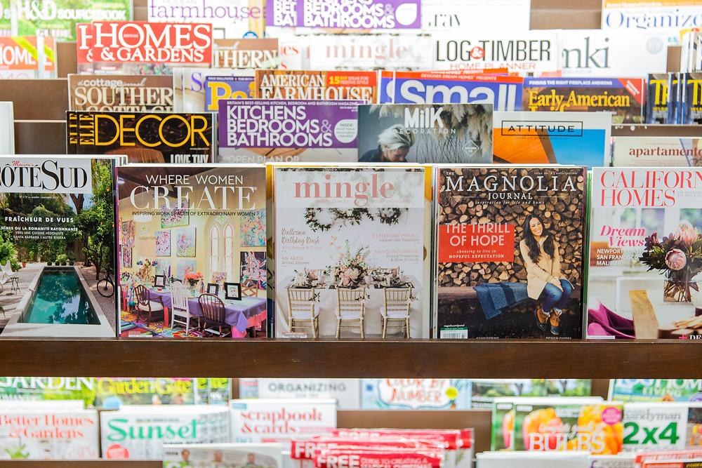mingle magazine publication, Magazine Rack