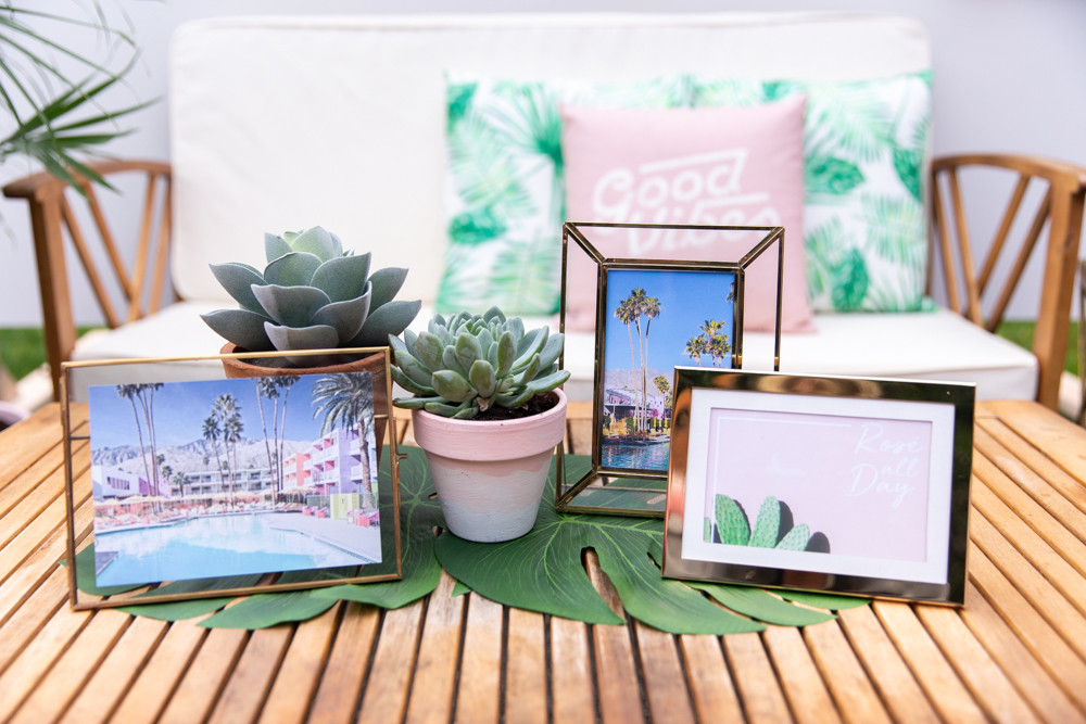 Vintage Beach Party Ideas, palm springs party centerpiece
