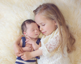 newborn with two year old sister