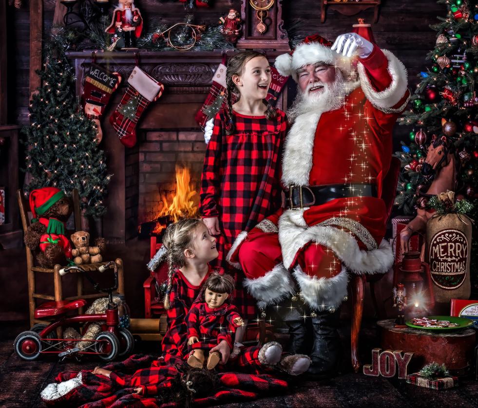 Santa in Hendersonville North Carolina