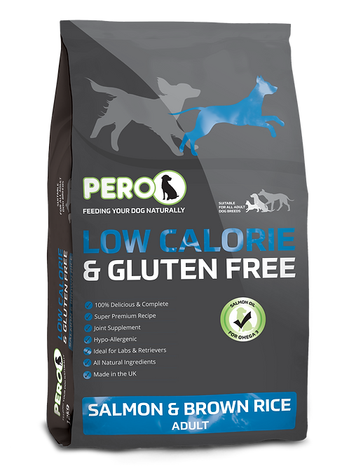 Pero Low Calorie & Gluten Free - Salmon & Brown Rice 12KG