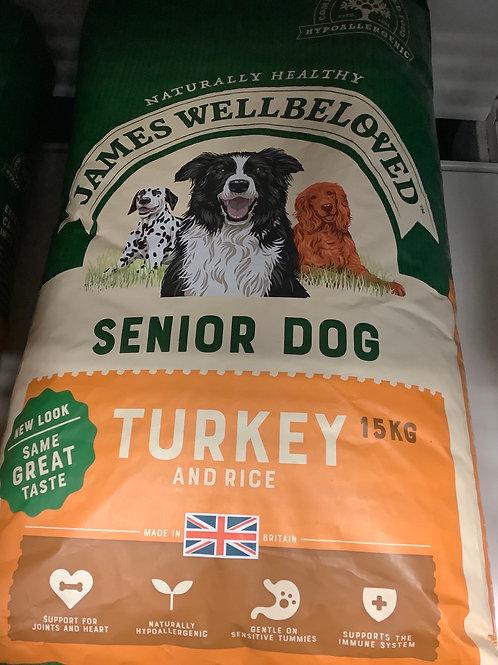 James Wellbeloved Dog Senior Turkey And Rice 15kg
